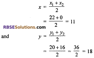 RBSE Solutions for Class 10 Maths Chapter 9 Co-ordinate Geometry Ex 9.2 6