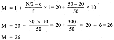 RBSE Solutions for Class 11 Economics Chapter 9 Median 57