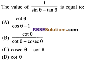 RBSE Solutions for Class 9 Maths Chapter 14 Trigonometric Ratios of Acute Angles Miscellaneous Exercise - 4