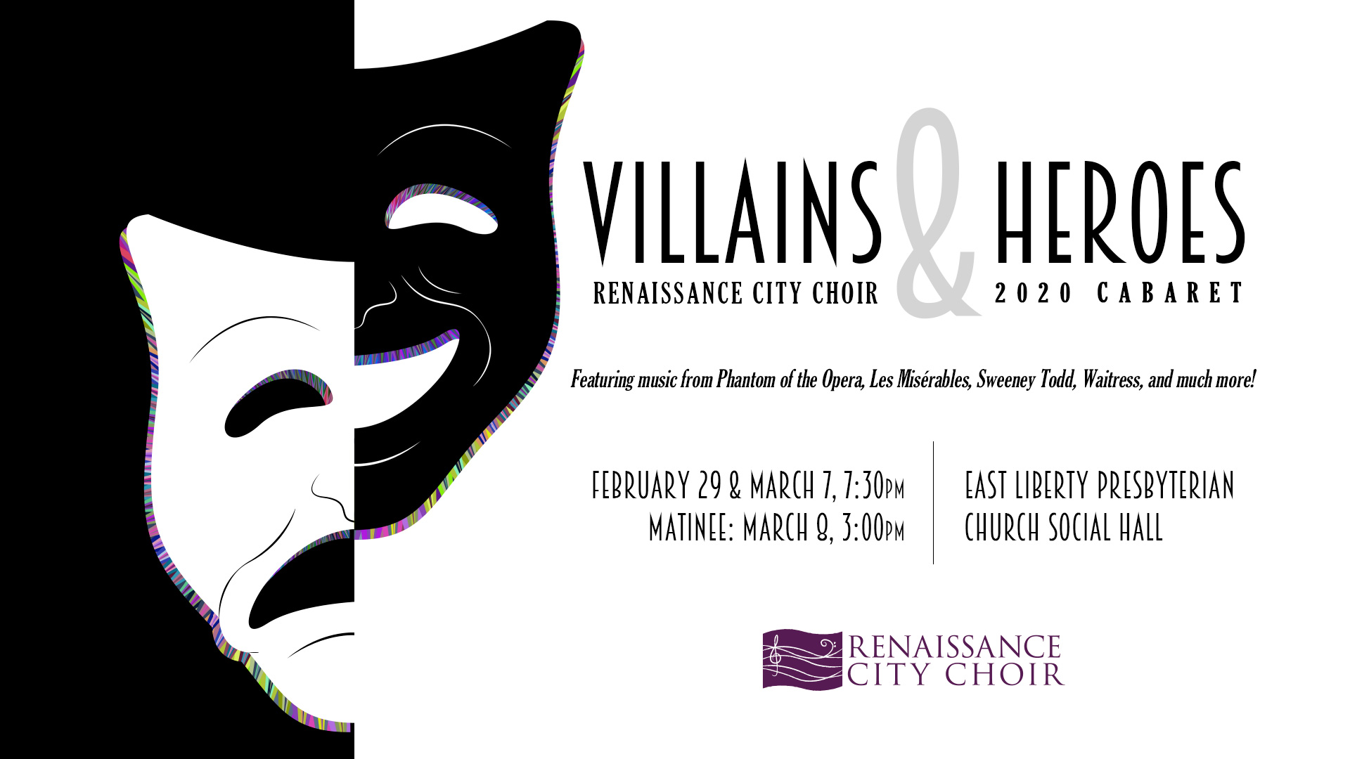 Renaissance City Choir 2020 Cabaret: Villains and Heroes