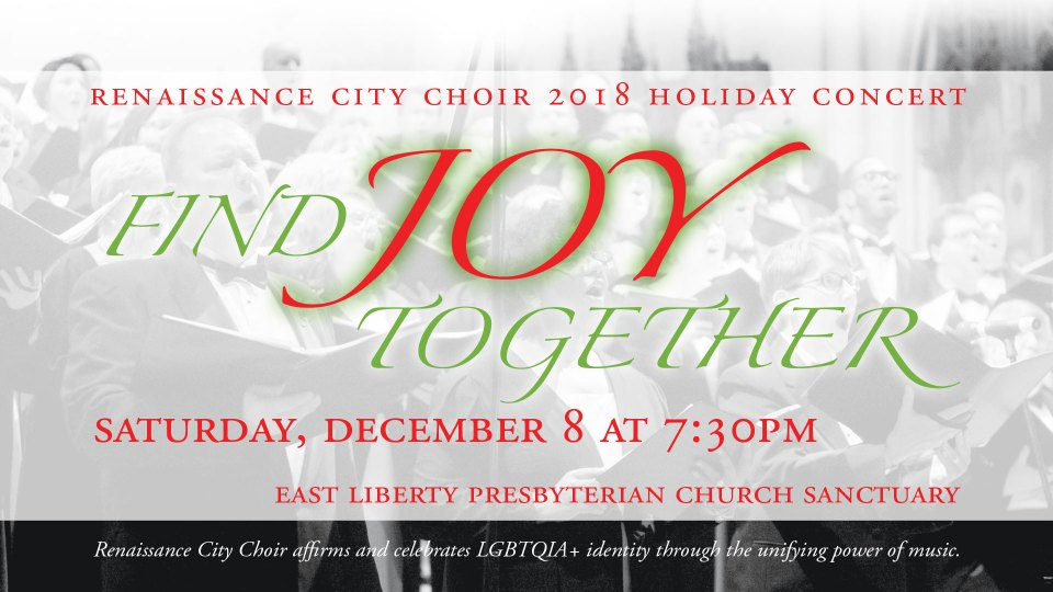 Find Joy Together—2018 Renaissance City Choir Holiday Concert