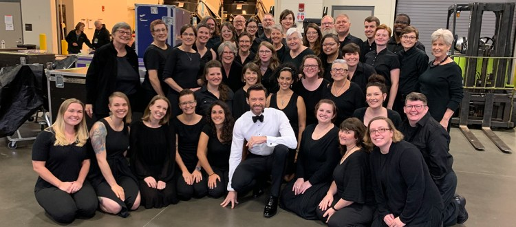 Renaissance City Choir performs with Hugh Jackman