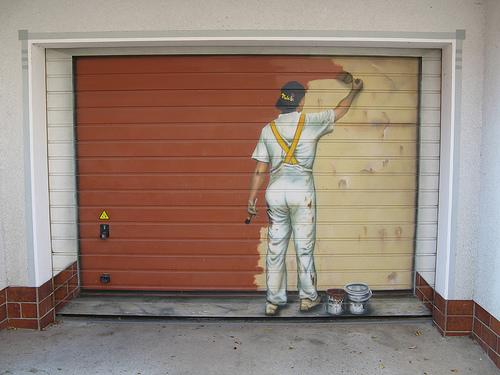 Painting Garage Doors - RC Garage Door Repair , Brooklyn on Garage Door Paint Ideas  id=21009