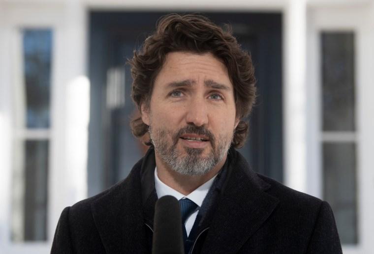 «Ça (les événement du Capitole) nous rappelle à quel point on ne peut pas prendre notre démocratie pour acquis.», Justin Trudeau - 08.01.2021 - Photo : La Presse Canadienne / Adrian Wyld