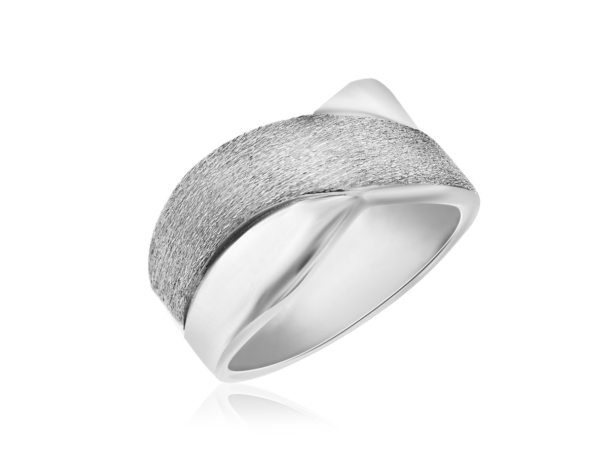 X Motif Diamond Dust Ring In Sterling Silver Richard