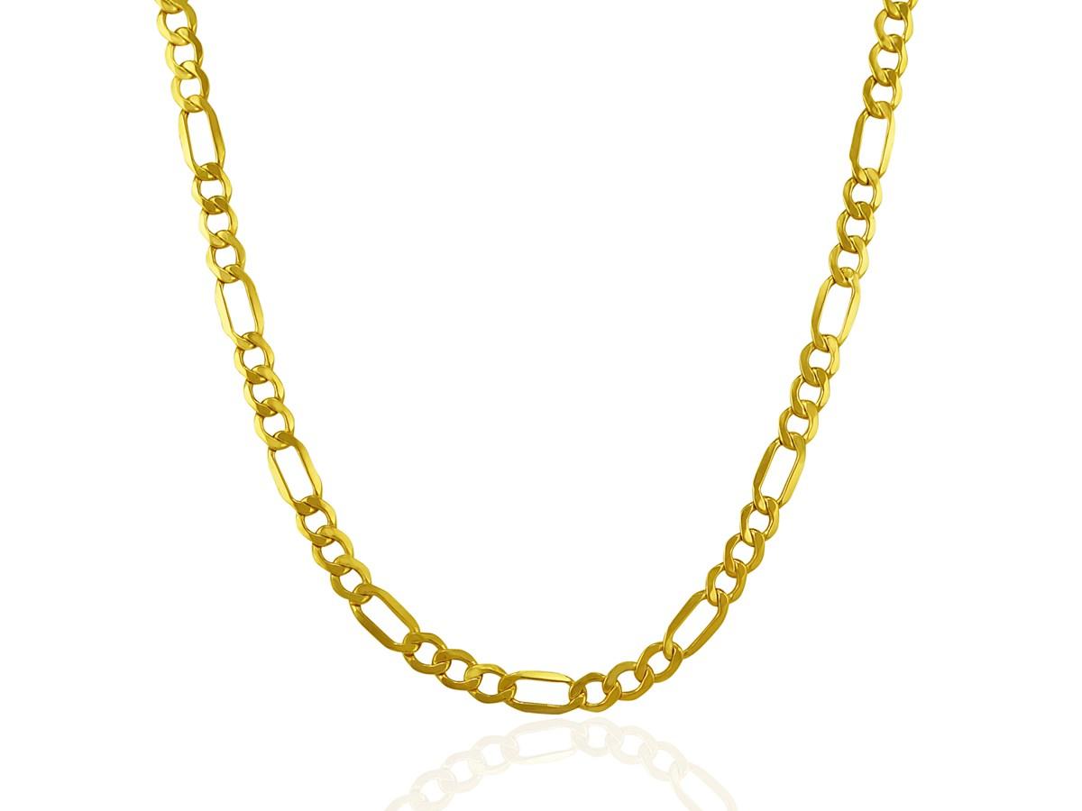 Lite Figaro Chain In 10k Yellow Gold 46mm Richard