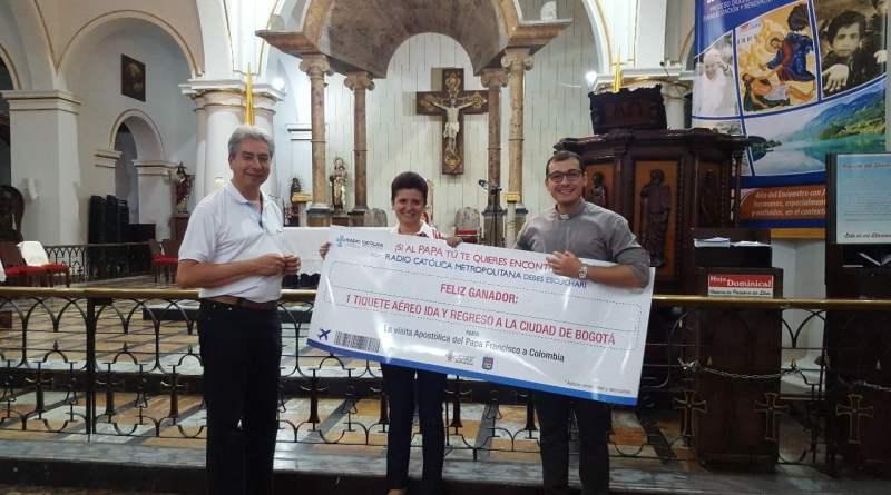 María Isabel Carrillo, sexta ganadora del tiquete ida y regreso para ir a conocer al Papa Francisco
