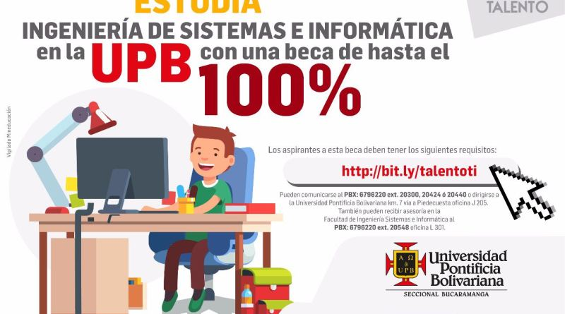 Abren becas para Ingeniería de Sistemas en la UPB