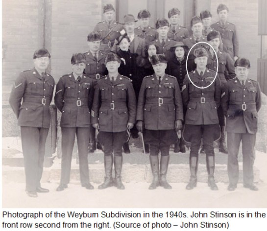 Photograph of Weyburn Subdivision members - RCMP