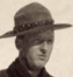 Photograph of John Stinson taken in spring 1915 at Regina Indian School barracks