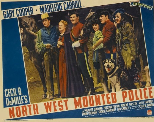 Photograph of post for the North West Mounted Police Movie