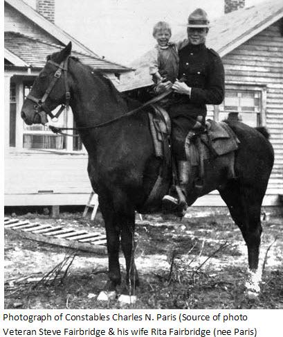 Photograph of Charles N. Paris - RNWMP member