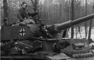 photograph of a german tank in world war II