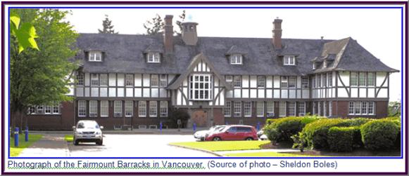 Photograph of RCMP's Fairmount Barracks in Vancouver, B.C.
