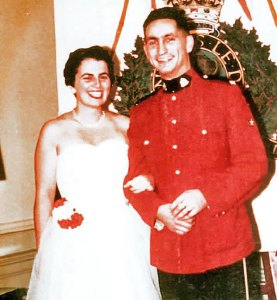 Wedding photograph of RCMP Cst. Steve Bunyk and his wife Margaret