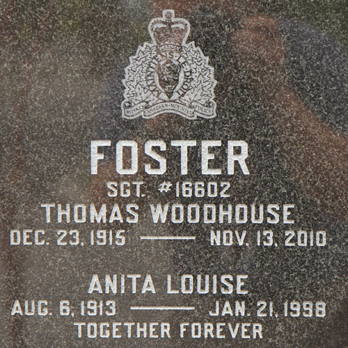 "Photograph of a cremation gravemarker at the RCMP ""Depot"" Cemetery (Source of photo - Sheldon Boles)."