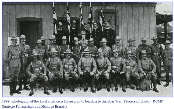 Photograph of the Lord Strathcona Horse Officers which consisted of many NWMP members