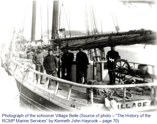 Photograph of the Village Belle and her crew