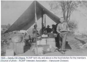 1920 Sandy Hills Ottawa - RCMP field kitchean