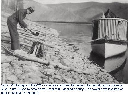 Photograph of Constable Richard Nicholson - RNWMP in the Yukon 1915