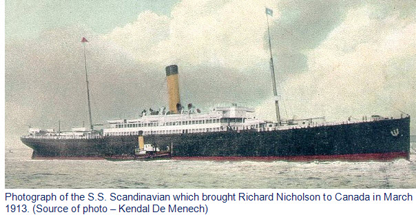Photograph of the SS Scandinavian