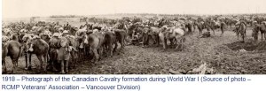 Photograph of Canadian Cavalry in Europe in World War I