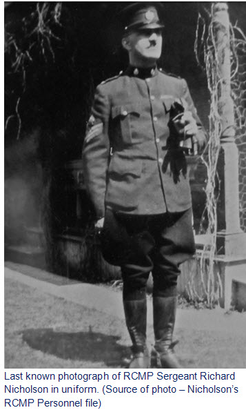 Photograph of RCMP Sergeant Richard Nicholson