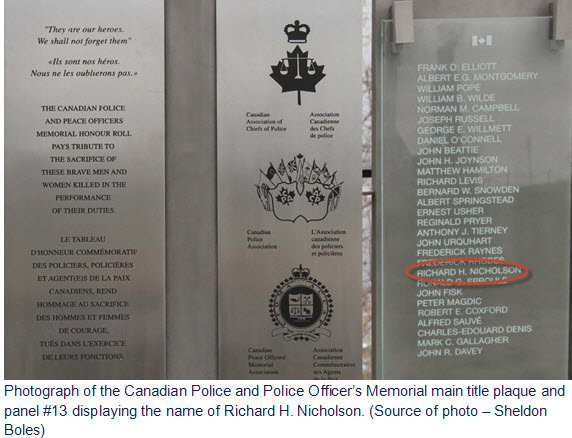 National Police & Peace Officer Memorial on Parliament Hill in Ottawa