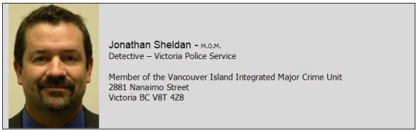 Closing block for Jonathan Sheldan - Victoria PD