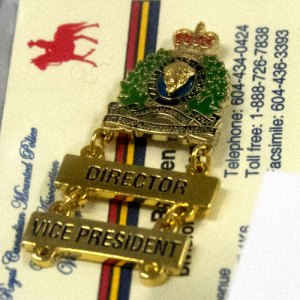 Photograph of RCMP Veterans' badge and card