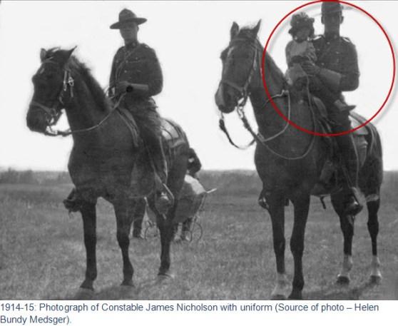 1913-1914 - Photograph of RNWMP Cpl. John Nicholson.