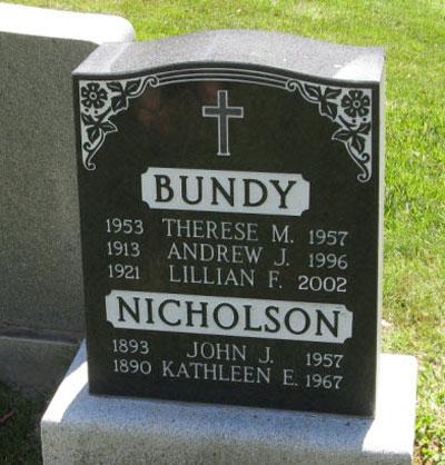 Photograph of Insp. John Nicholson's grave marker.