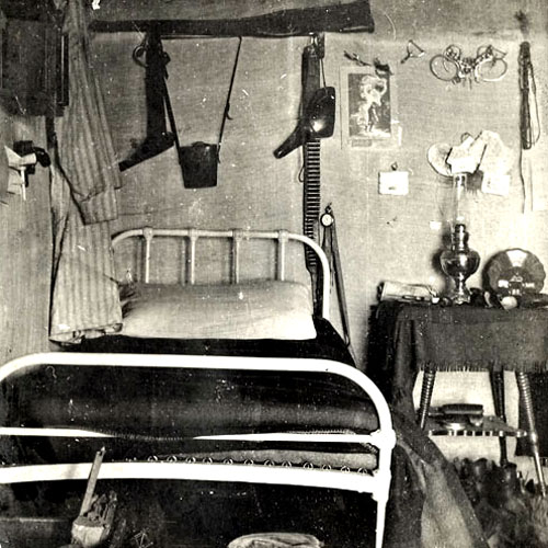 Photograph of a typical NWMP & RNWMP Post sleeping accommodations. (Source of photo - Doug Madill)