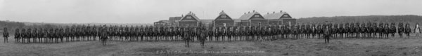 1921: Photograph of RCMP members at Fairmount Barracks in Vancouver, B.C.
