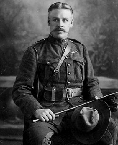 Photograph of Fred Bagley in the Canadian Mounted Rifles during the Boer War (Source of photo - Ric Hall's Photo Collection).