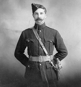 "Photograph of Major Victor Williams - Commanding ""B"" Squadron of the Canadian Mounted Rifles in South Africa (Source of photo - Library Archives of Canada)"