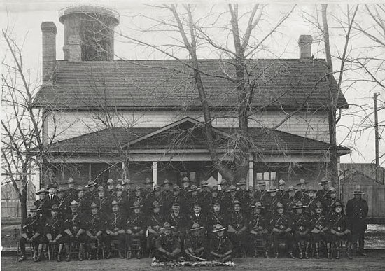 Photograph of RNWMP members taken in Lethbridge Alberta (Source of photo - Ric Hall's Photo Collection).