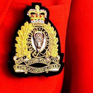 Photograph of a RCMP Veterans' Association blazer crest.