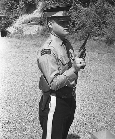1965 - Photograph of Constable Bill Sedler taken while a member of RCMP Cloverdale Detachment (Source of photo - Steve Gibson).
