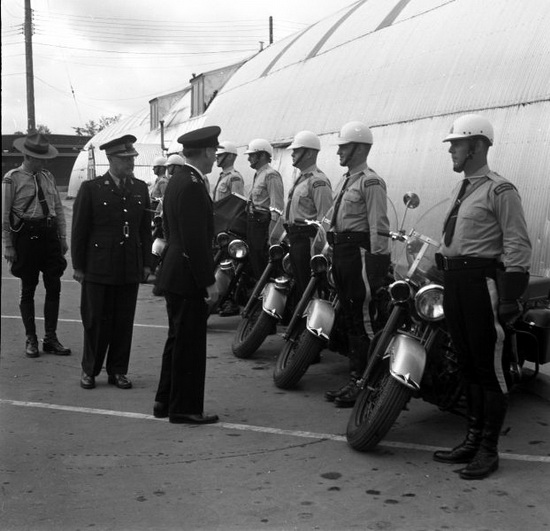 RCMP Cloverdale motorcycle training course held at the Cloverdale fairgrounds in Surrey BC (Source of photo - Steve Gibson).