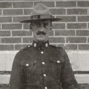 Photograph of Sergeant Major Tim Griffin at RNWMP Headquarters in Regina (Source of photo - Ric Hall's Photo Collection).