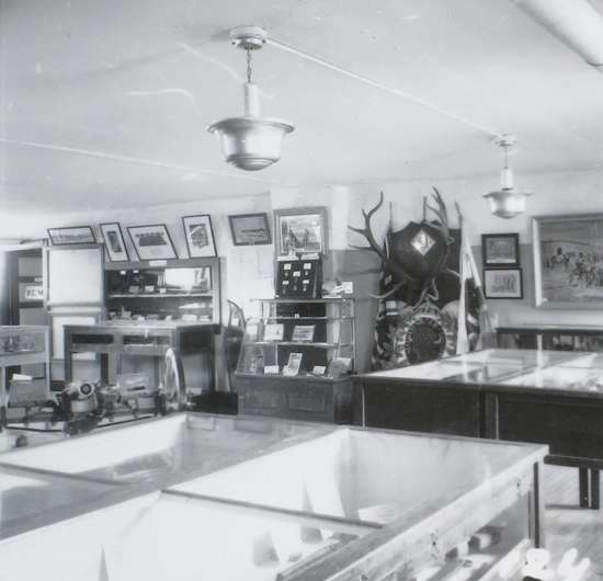 "Early 1950s - Photograph of the RCMP Museum at ""Depot"" Division in Regina (Source of photo - Vancouver Division - RCMP Veterans' Association Photo Collection)."