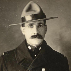 Photograph of RNWMP/RCMP member Frank Pearson (Source of photo - Ric Hall's Photo Collection)