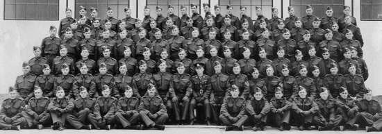 Photograph of members of the RCMP Number 1 Canadian Provost Corps (Source of photo - Ric Hall's Photo Collection).