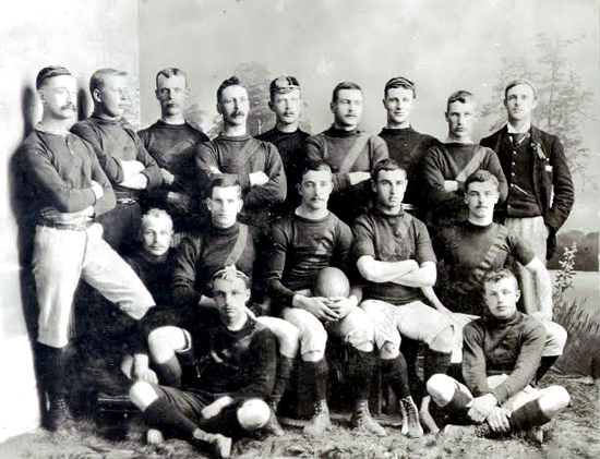 Early NWMP member rugby team in Regina (Source of photo - Ric Hall's Photo Collection).