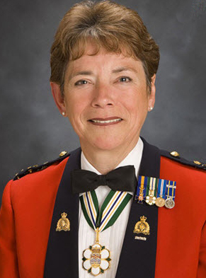 Photograph of RCMP Commissioner Beverly Busson (Source of photo – orderofbc.gov.bc.ca)