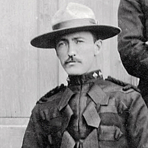 """1900 - Photograph of Supt. Philip Primrose (Source of photo - RCMP Historical Collections Unit - """"Depot"""" Division)."""