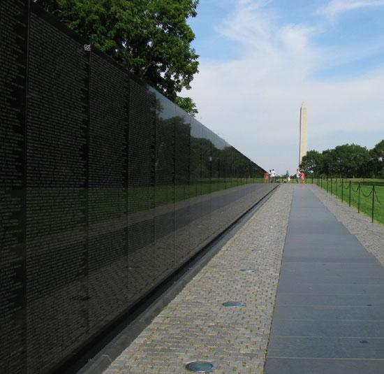 Photograph of the Vietnam War Memorial Wall in Washington DC - taken by Sheldon Boles (Source of photo - Sheldon Boles).