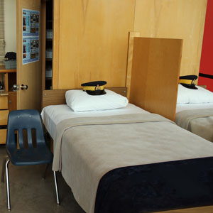 Photograph of a typical bed for a non-inspection day (Source of photo - Sheldon Boles).