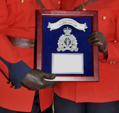 Photograph of a RCMP Commissioner's Commendation For Bravery.